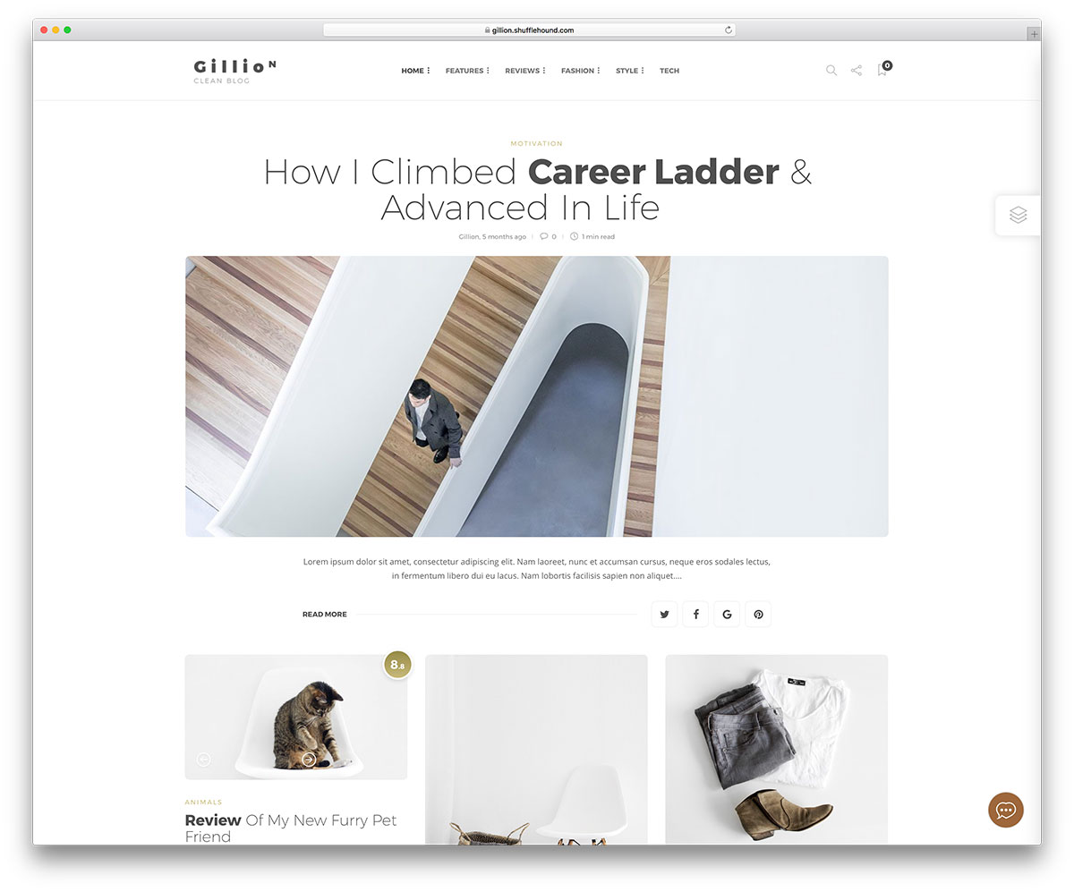 6051dbb55 40 Clean And Simple WordPress Themes For Portfolio, Fashion And Photography  Websites 2019