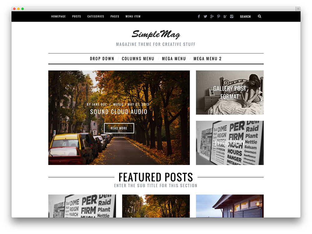 simplemag - responsive magazine theme