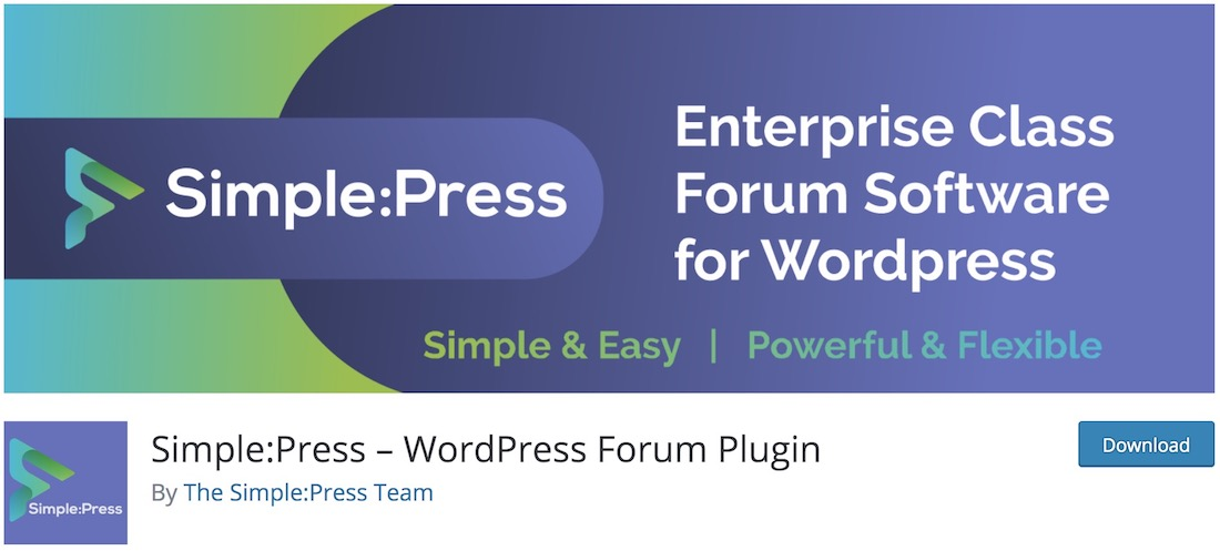 simplepress wordpress forum plugin