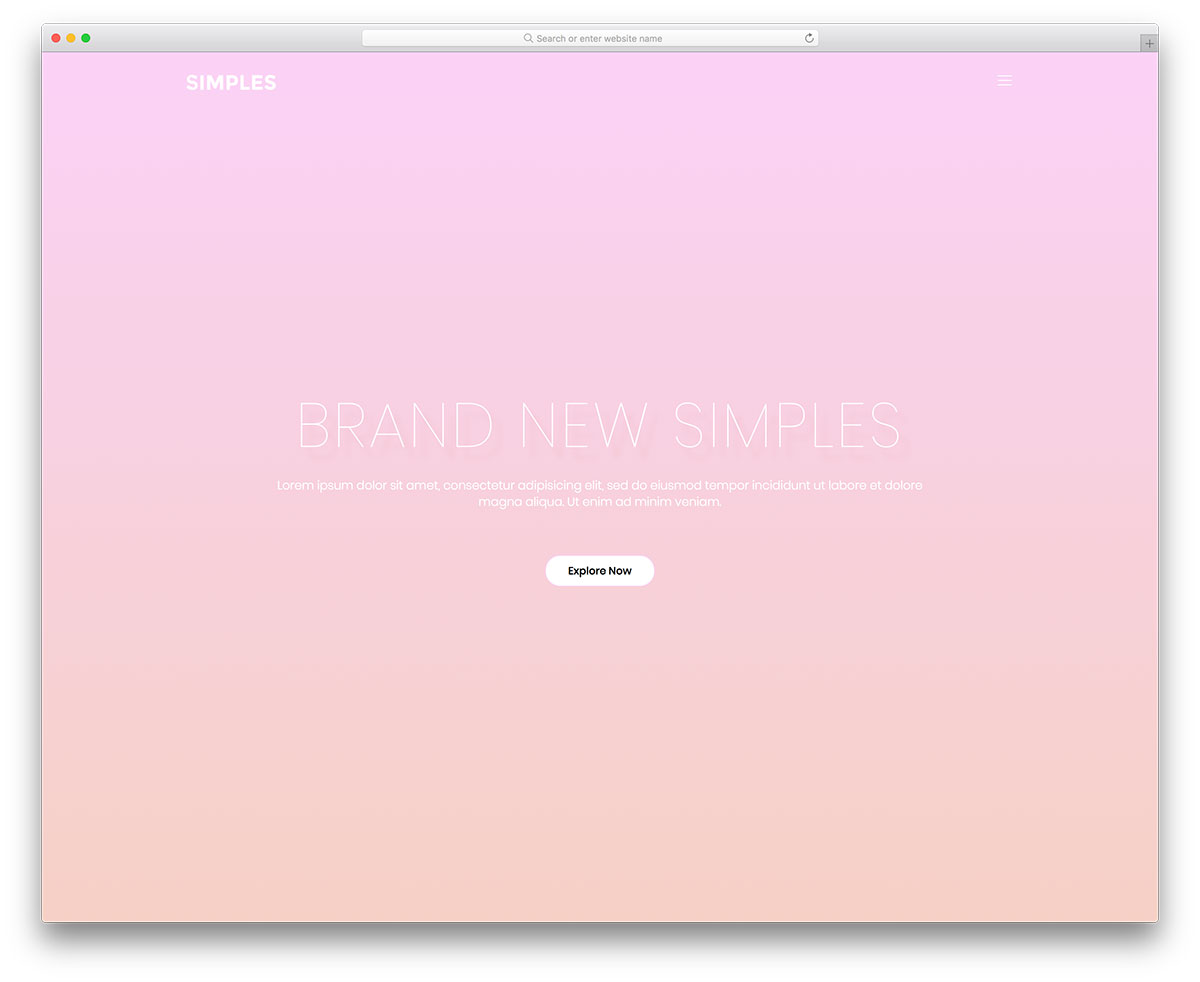 simples free mobile-friendly website template