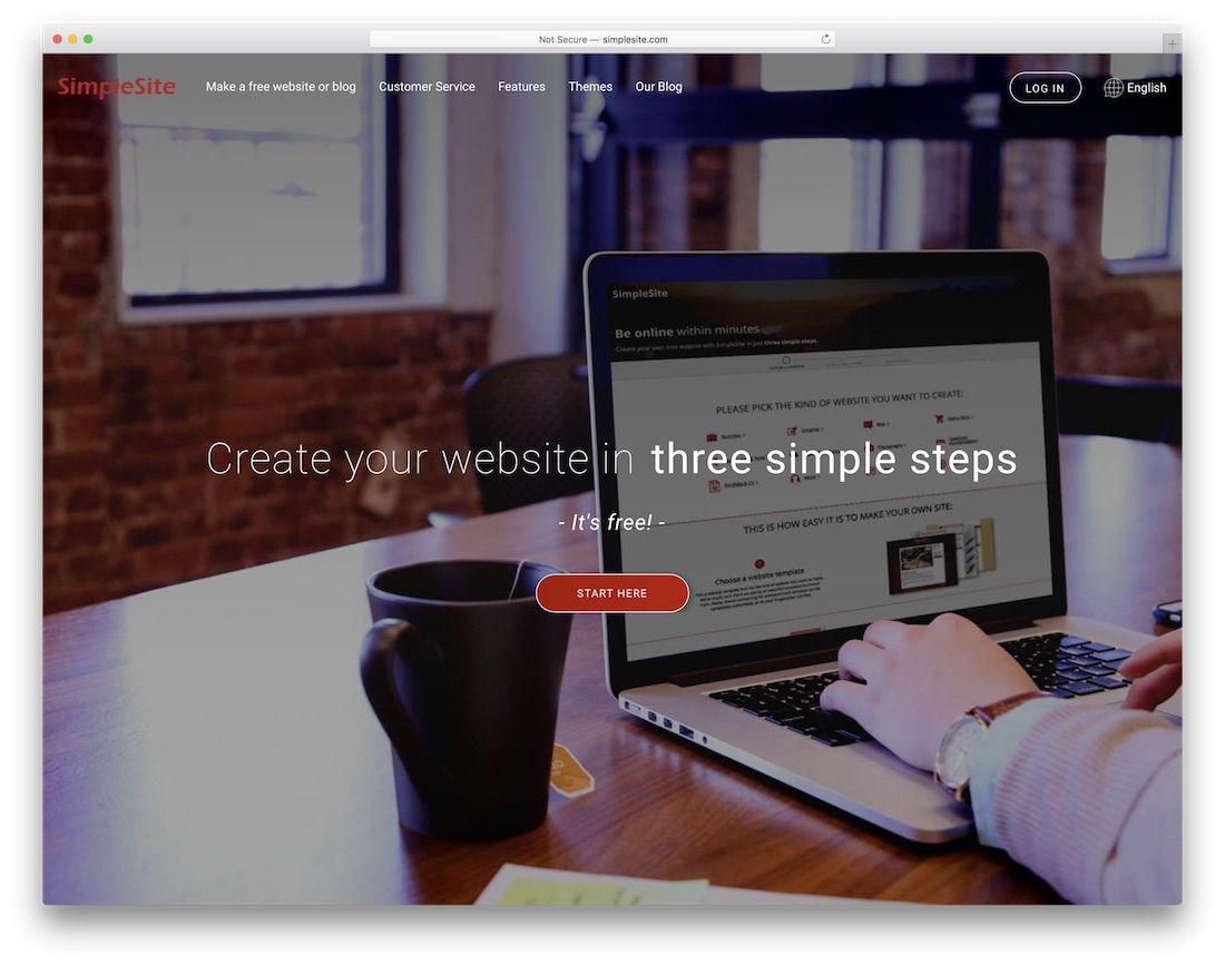 simplesite free personal website builder