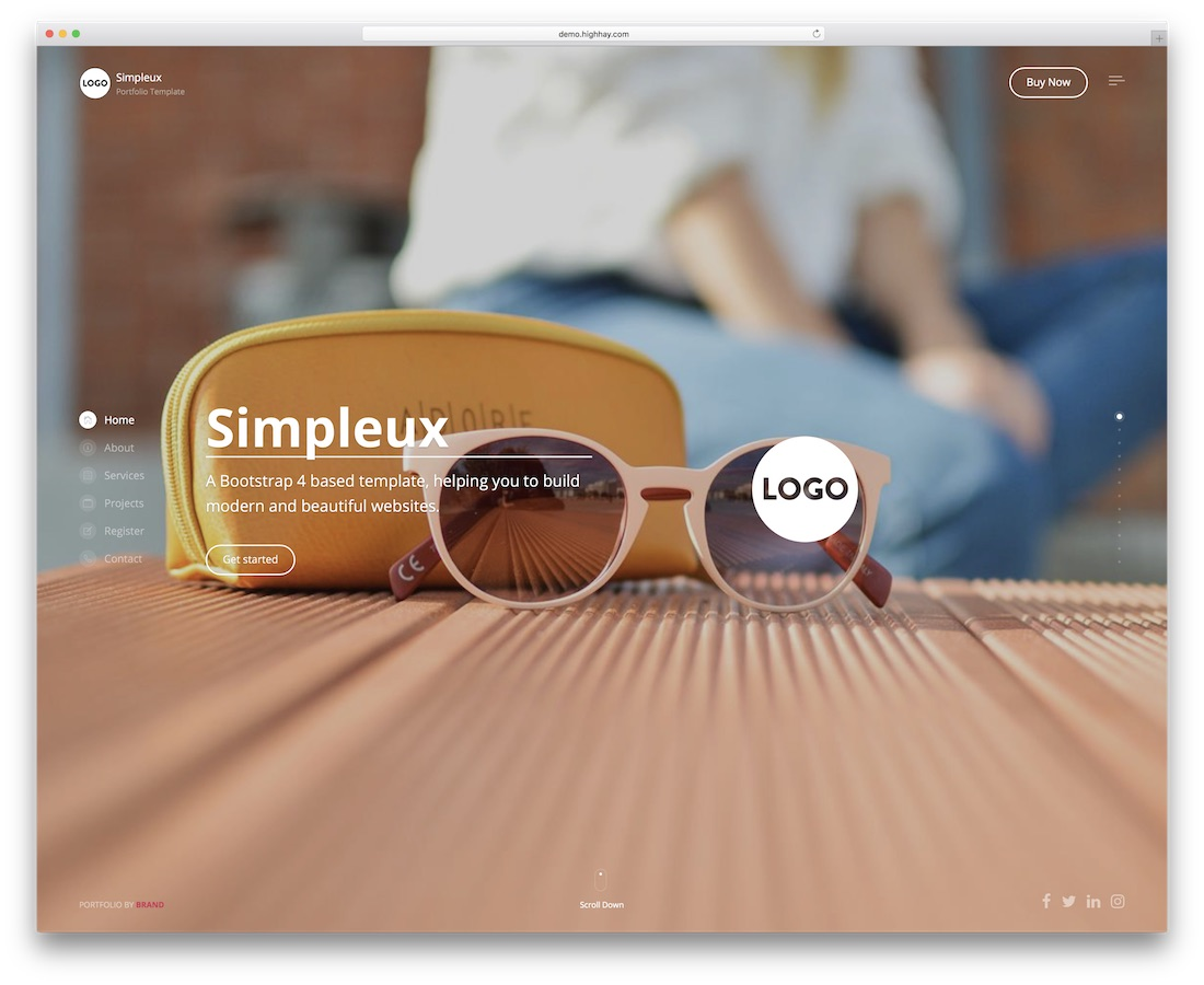 simpleux creative website template