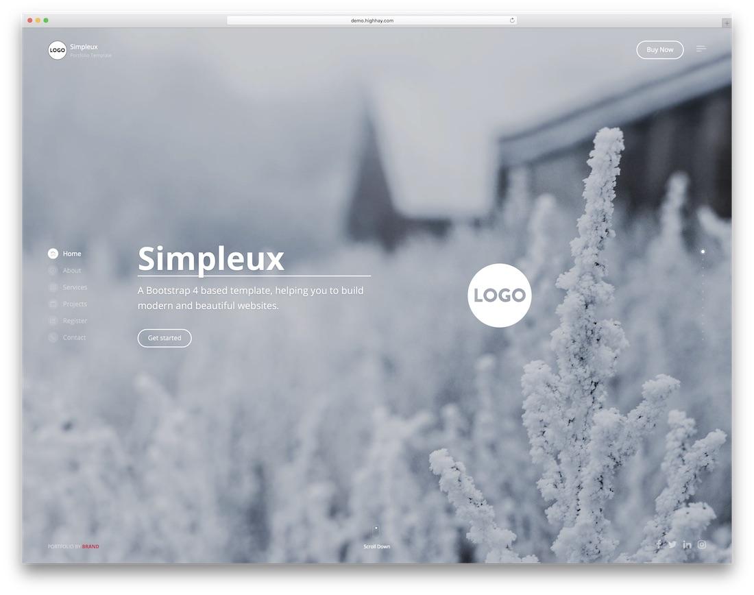 simpleux portfolio website template