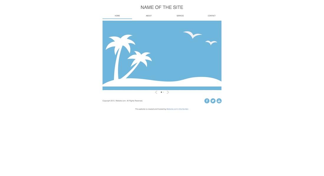 simplicity blank website template