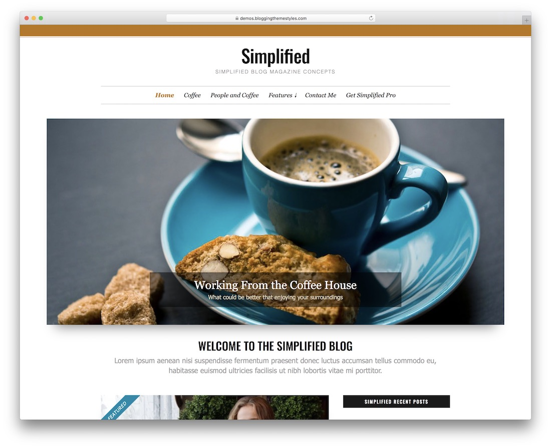 simplified lite free minimalist wordpress theme
