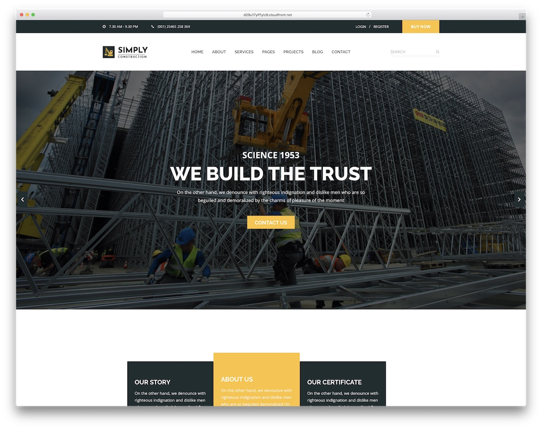simply simple bootstrap template