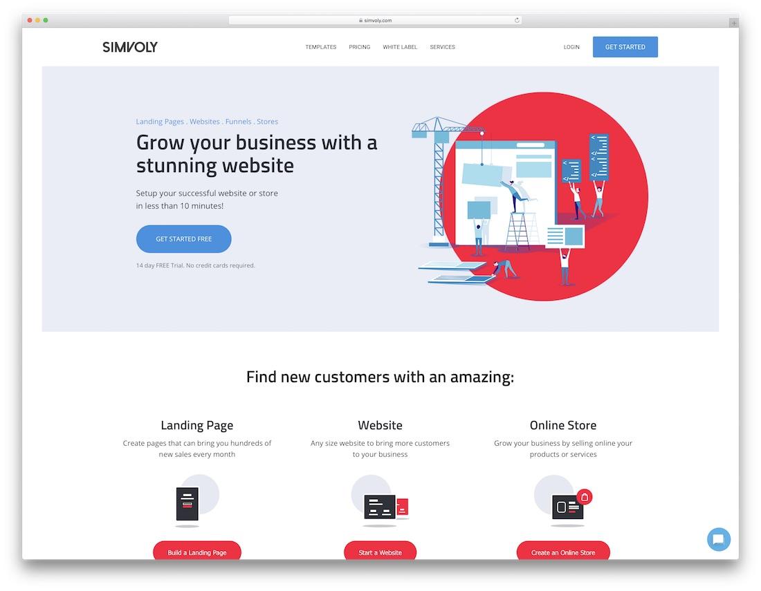 simvoly best business website builder