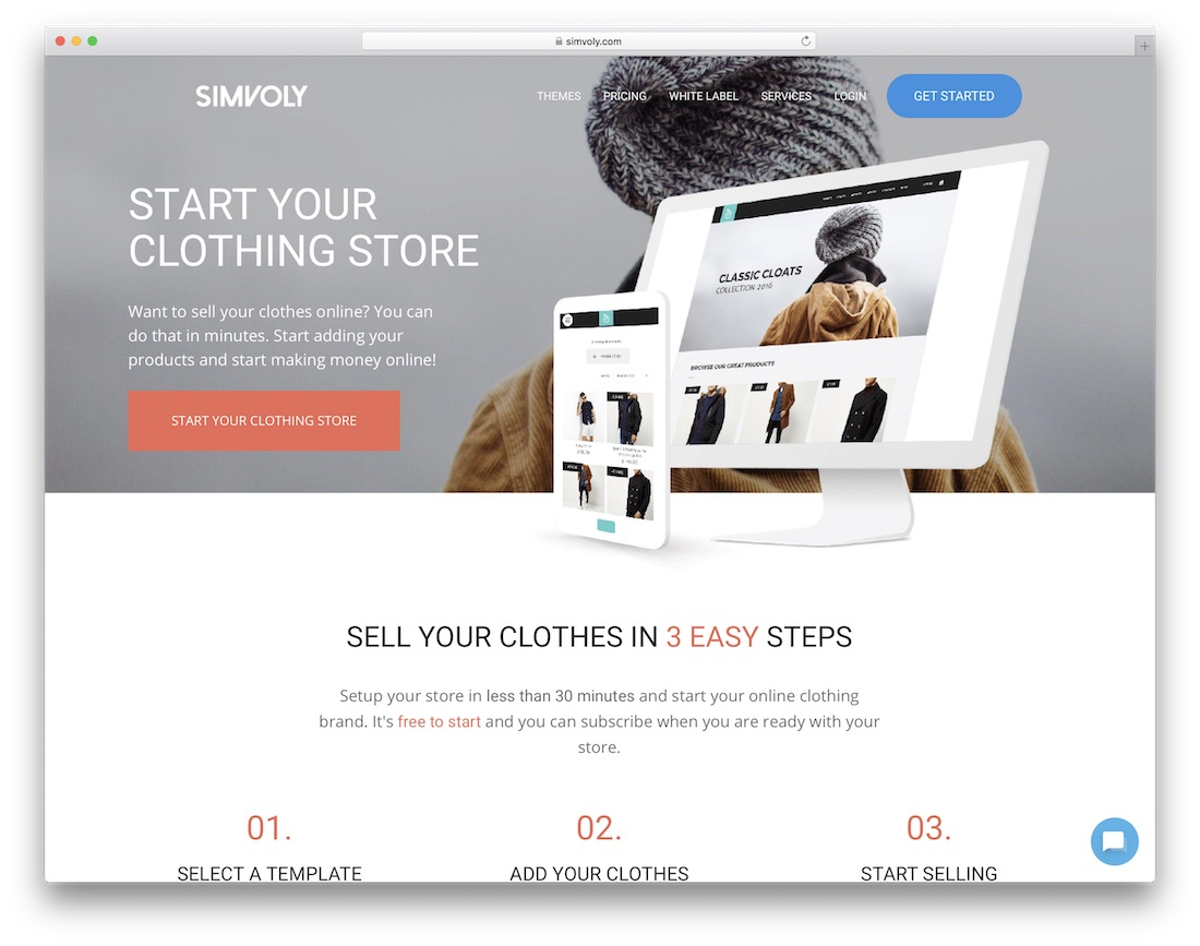 simvoly clothing website builder