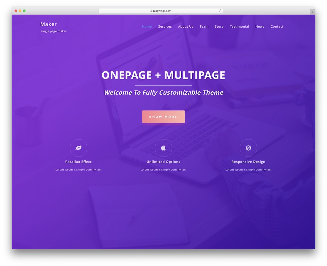 single-page-maker free bbpress theme