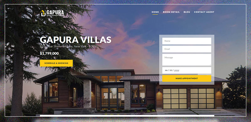 Single Property WordPress Theme - Gapura