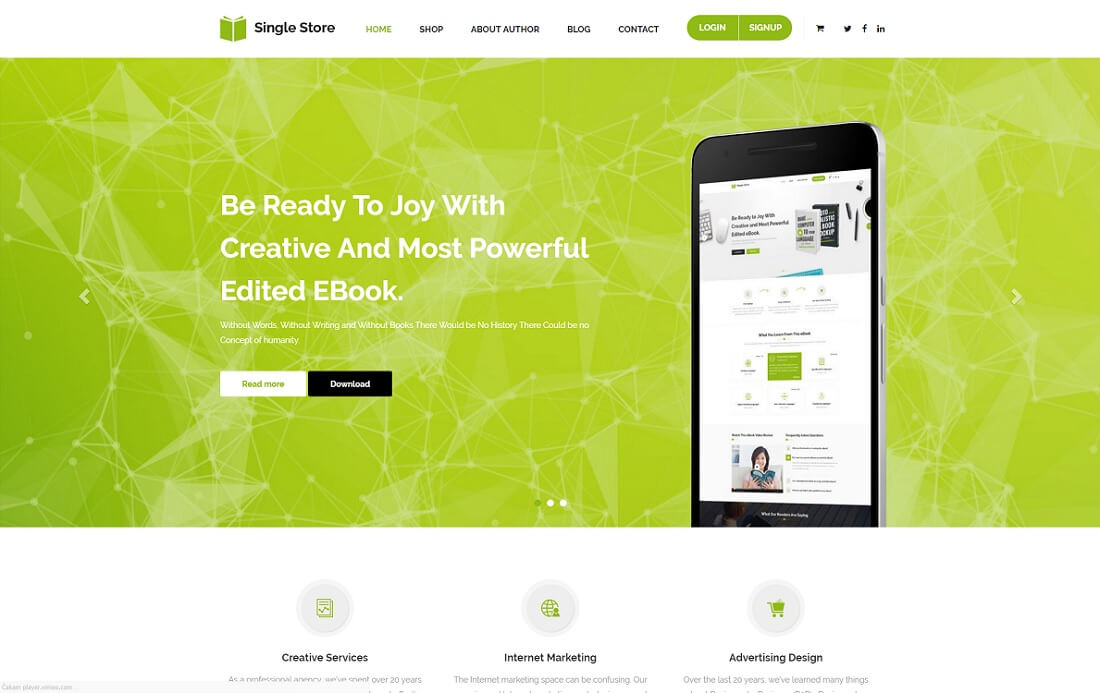 single store shopify technology theme