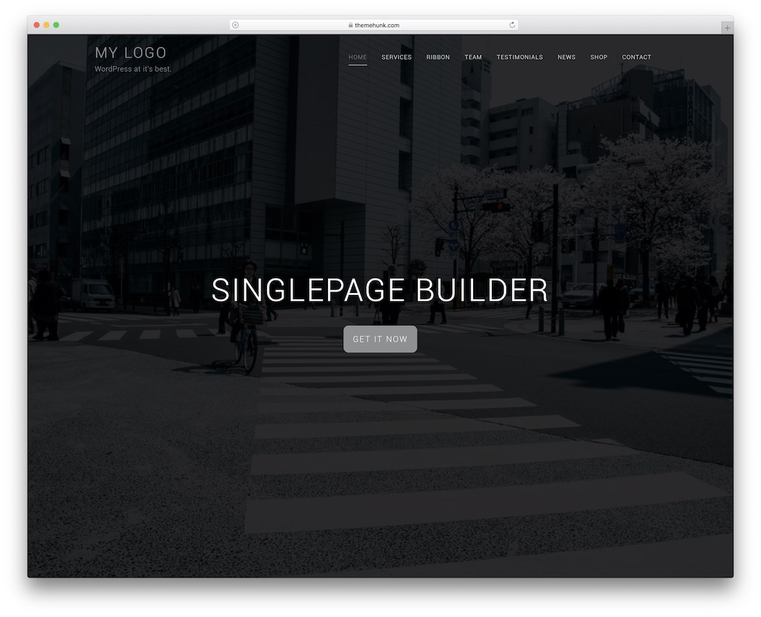 singlepage builder free wordpress theme
