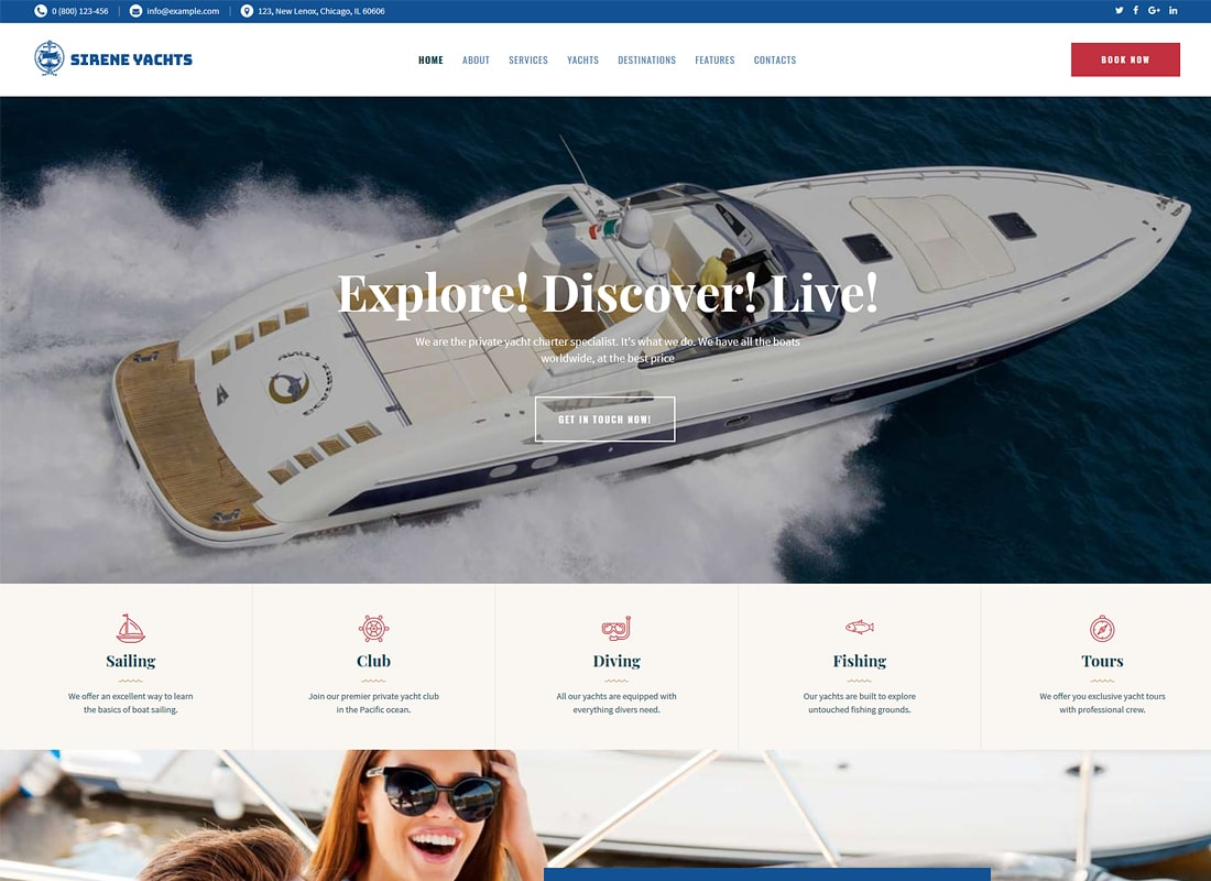 Sirene | Yacht Charter Services & Boat Rental WordPress Theme