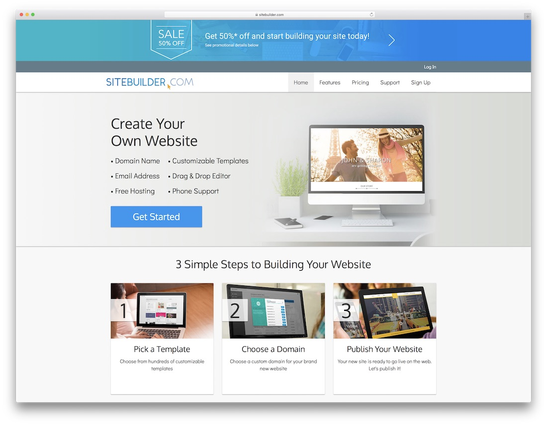 sitebuilder best business website builder