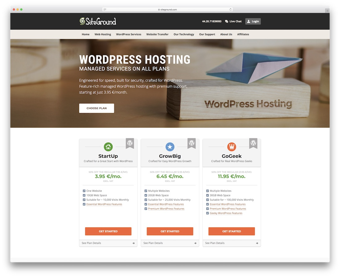 siteground web hosting for personal website