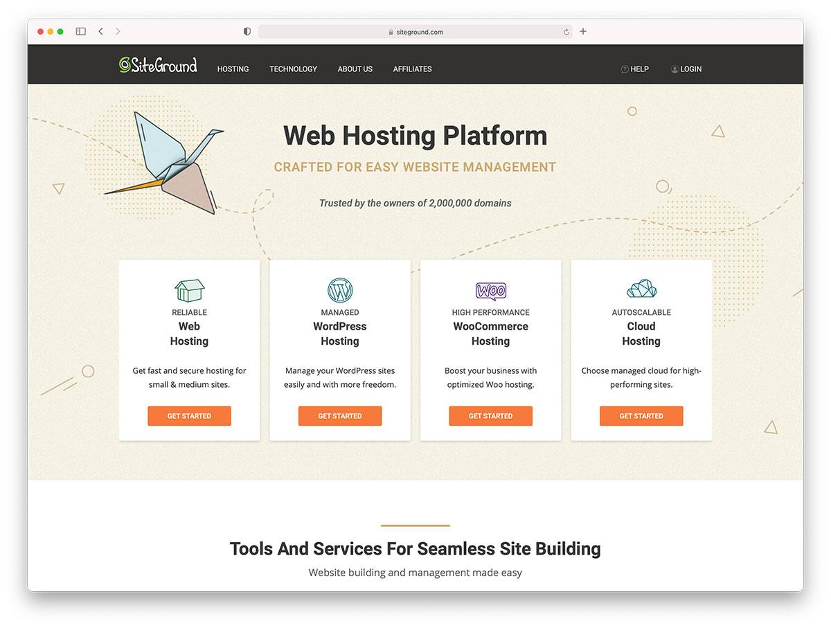 siteground - wordpress hosting
