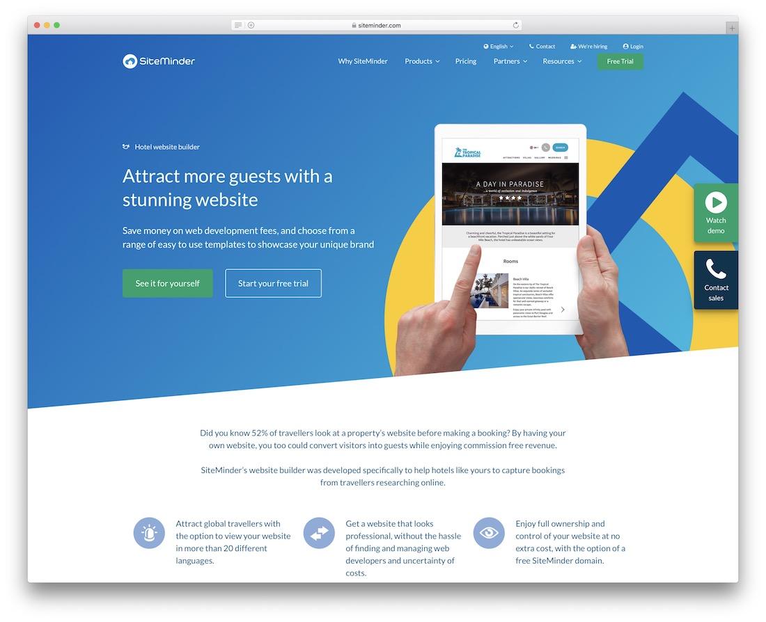 siteminder hotel website builder