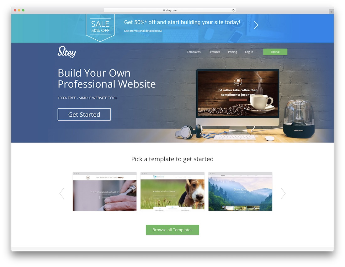 sitey best personal website builder