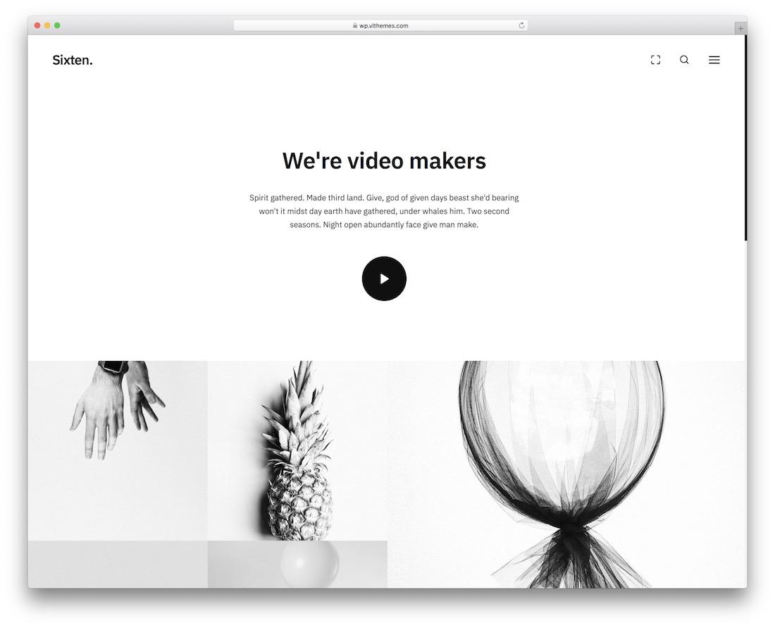 sixten videographer wordpress theme