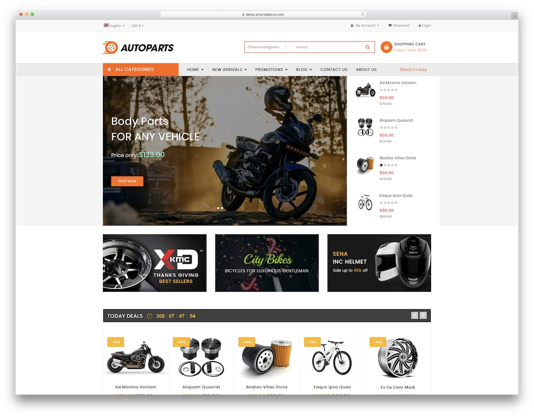 sj autoparts virtuemart template