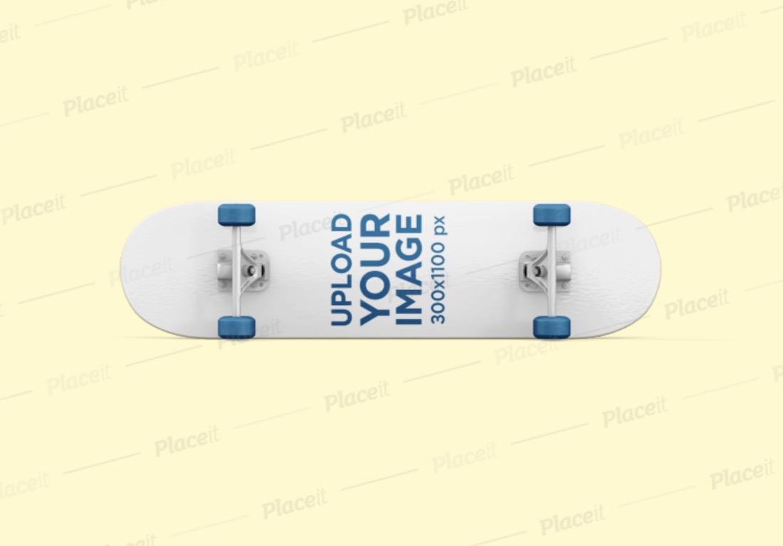 skateboard bottom mockup