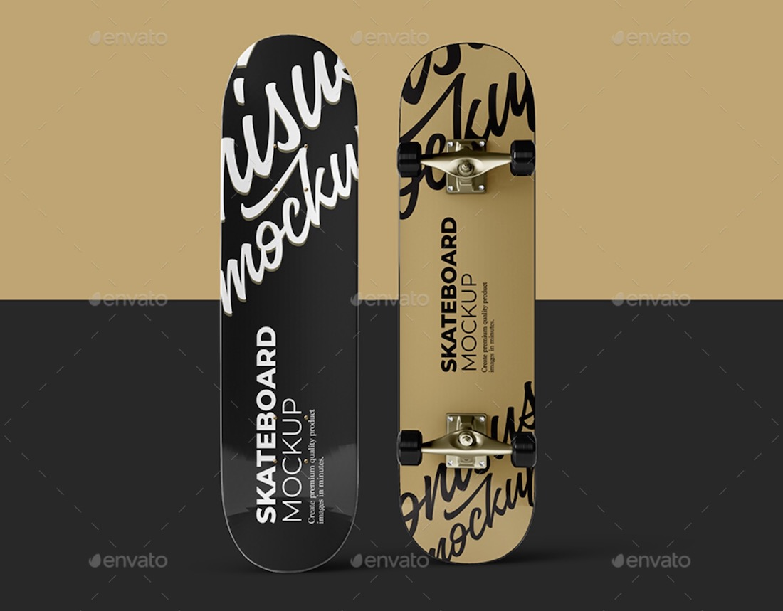 skateboard mockup template