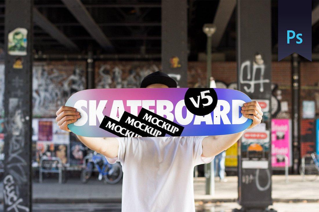 skateboard mockup v5 psd