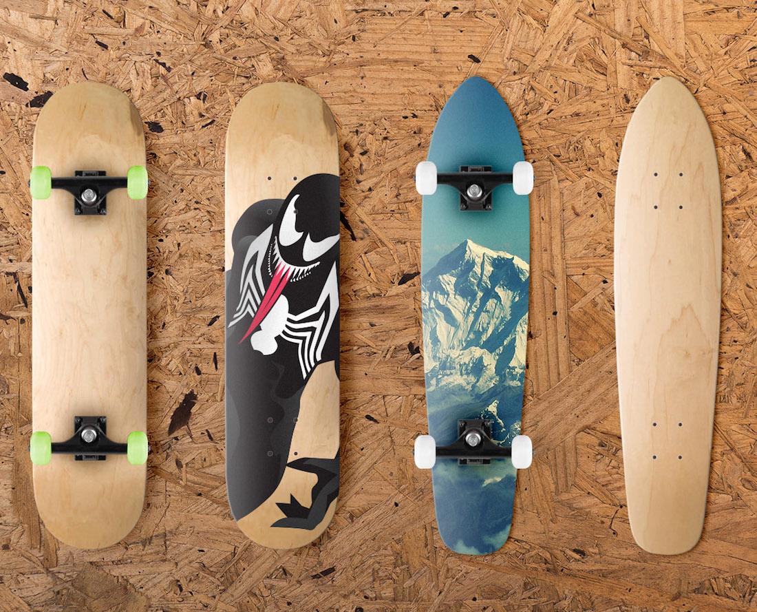 23 Photo-Realistic Skateboard Mockup Templates 2020