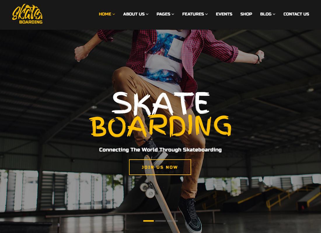 Skateboarding Community & Store - WordPress Theme