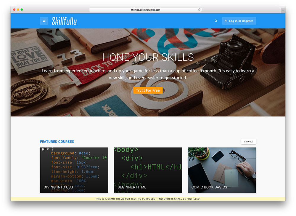 skillfully - online course theme