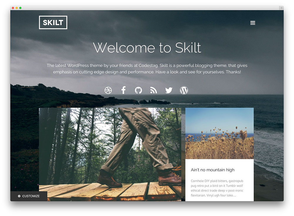 Skilt WordPress blog theme