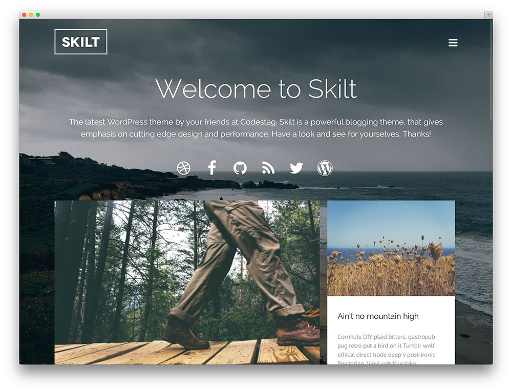 Skilt blogging template