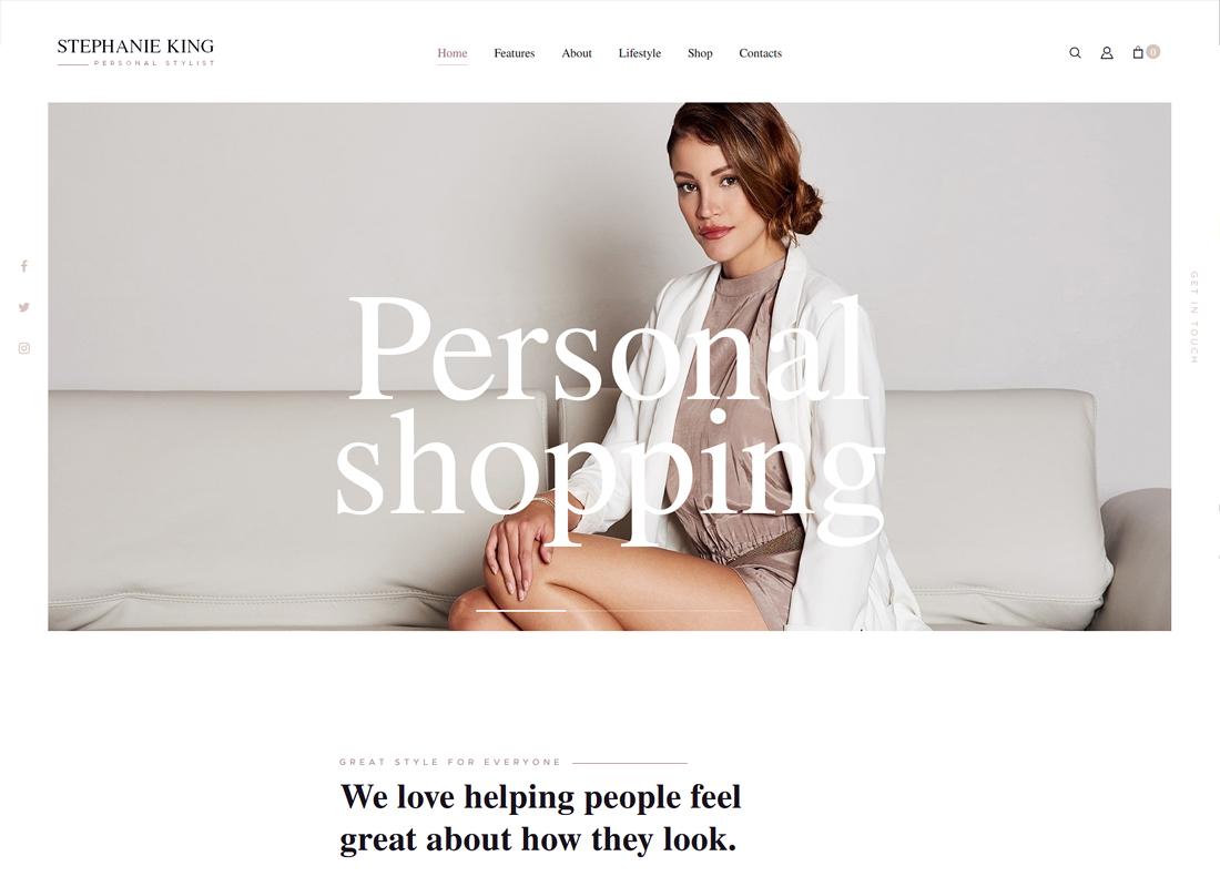 S.King - Personal Stylist and Fashion Blogger WordPress Theme