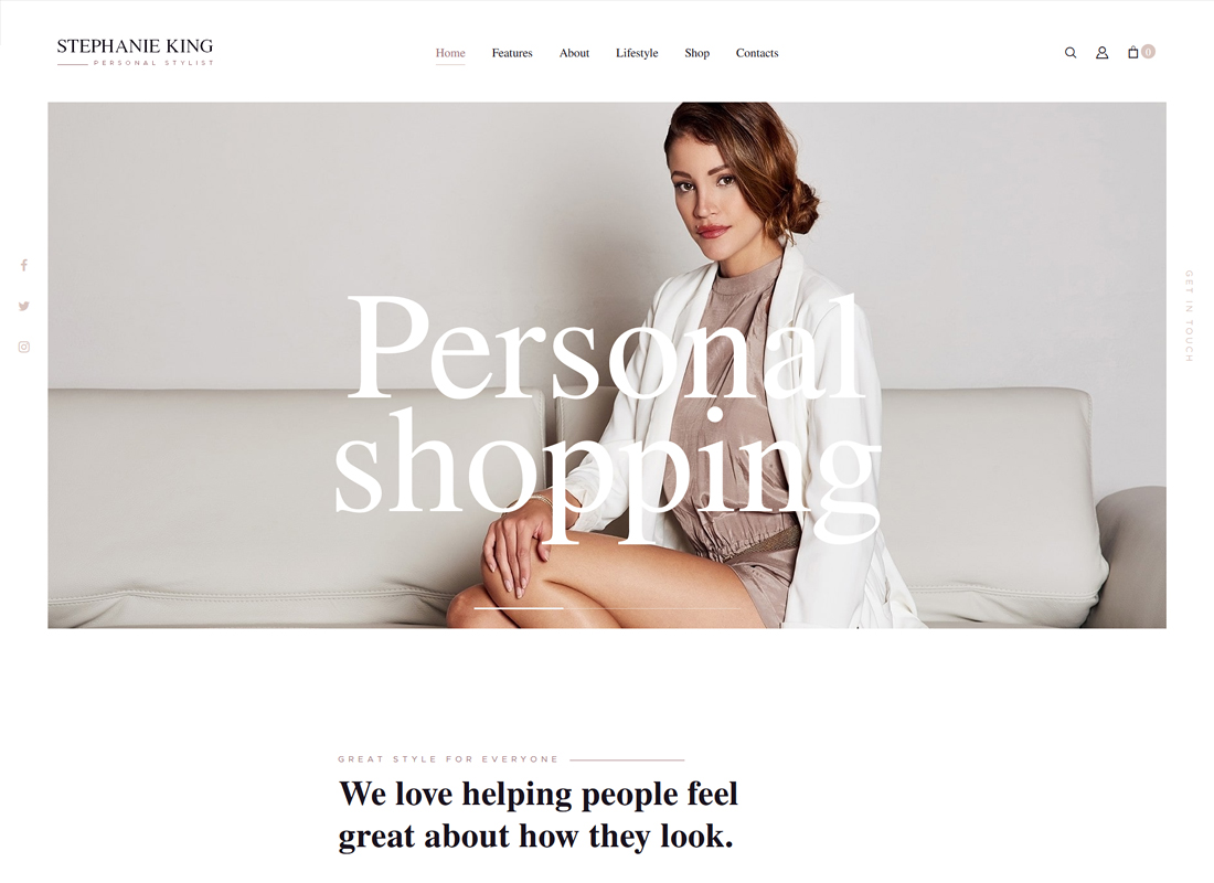 S.King | Personal Stylist and Fashion Blogger WordPress Theme