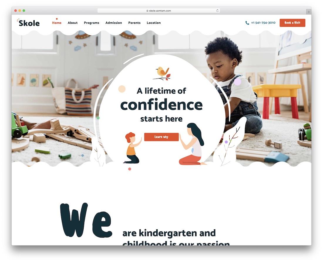 skole kindergarten wordpress theme