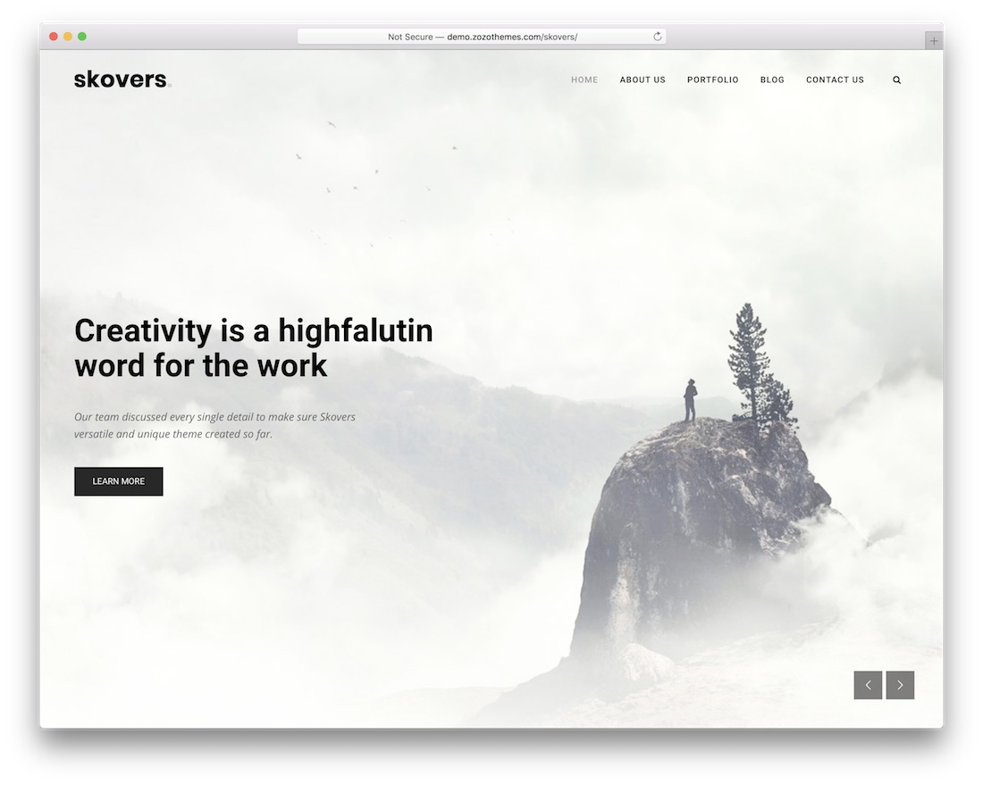 skovers cheap wordpress theme