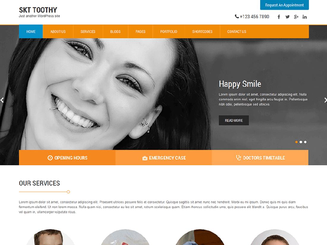 SKT Toothy Medical WordPress Theme