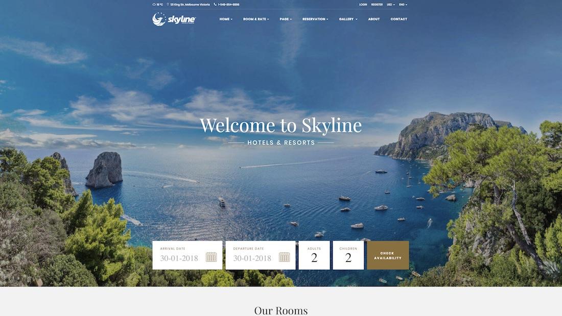 skyline website template