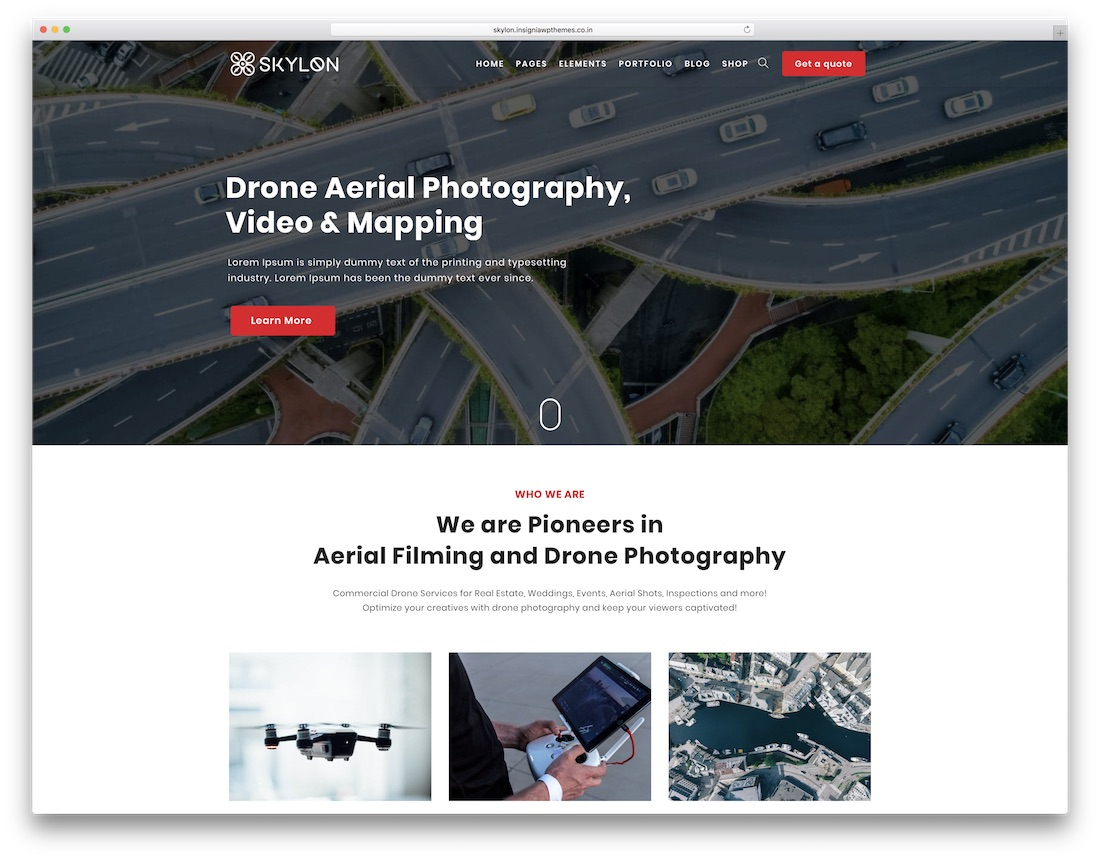 skylon wordpress photography blog theme