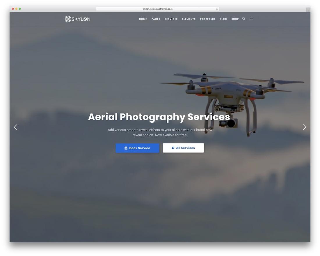 skylon wordpress theme for photographers