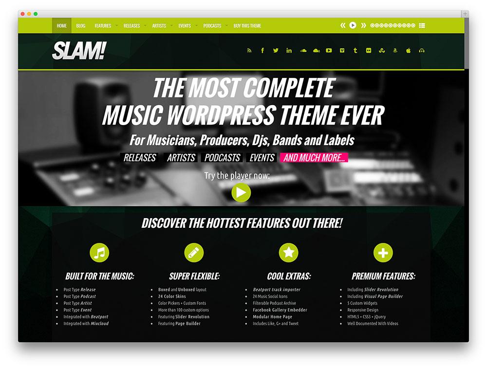 tema Slam multiuso WordPress