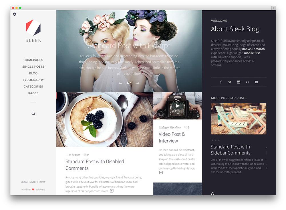 sleek - full screen fashion blog