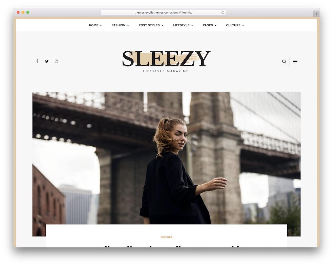 sleezy lifestyle wordpress theme