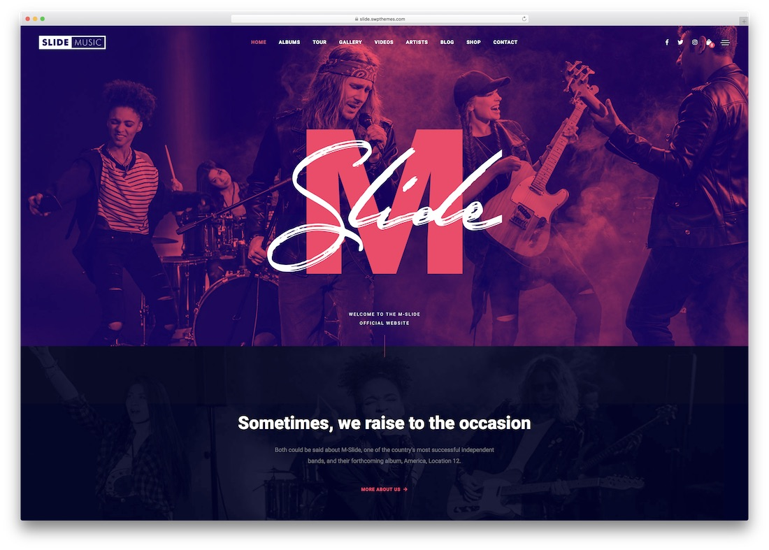 slide music wordpress theme