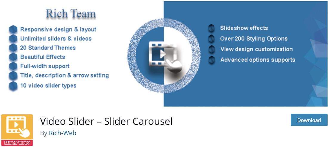 slider video wordpress plugin