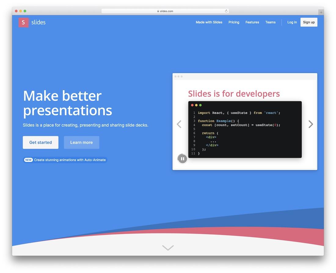 slides tool for presentations