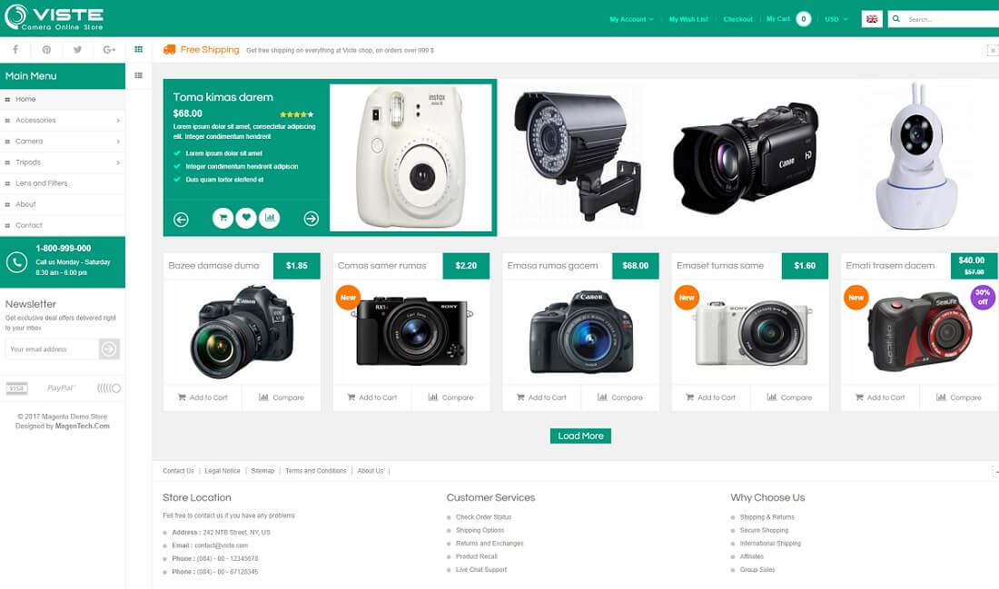 sm viste magento technology theme