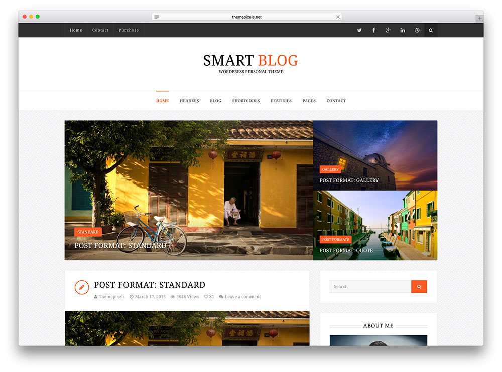 smart blog - business insider theme
