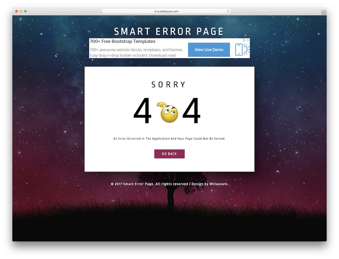 smart free 404 error page template