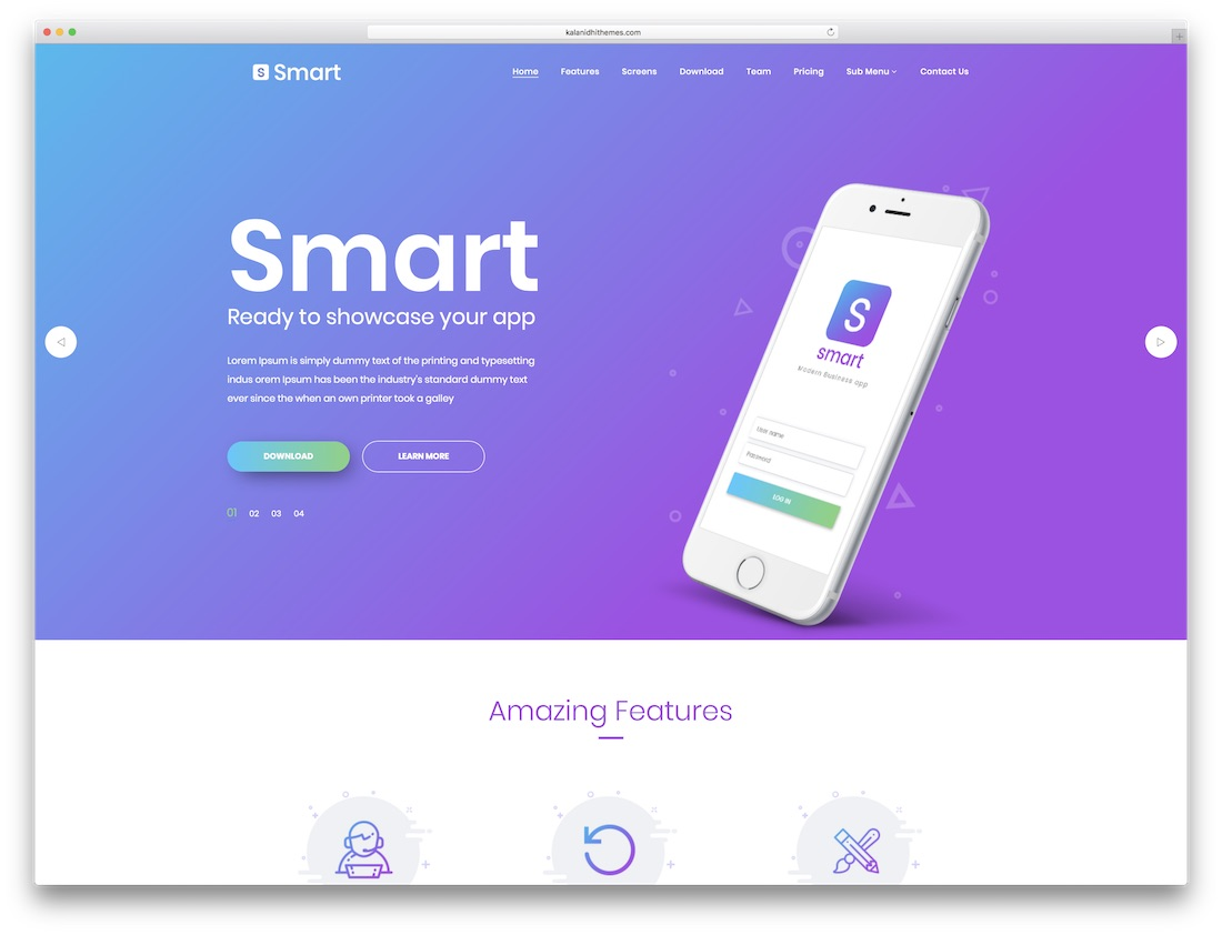 smart software company website template